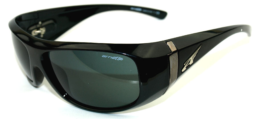 Arnette Bluster Sunglasses Shiny Black Grey